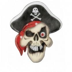 Calavera pirata en chiffón con ojo de piedra - Imagen 1