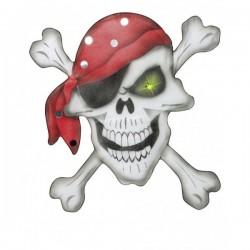 Calavera pirata con pañuelo en chiffón - Imagen 1