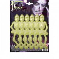 Set de 6 esqueletos fluorescentes - Imagen 1