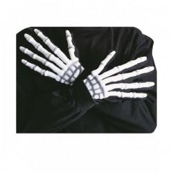 Guantes de esqueleto con relieve fluorescentes - Imagen 1