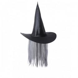 Sombrero de bruja con pelo canoso - Imagen 1