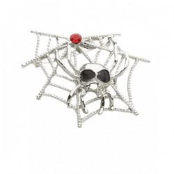 Broche de telaraña con araña calavera - Imagen 1