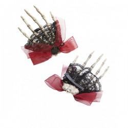 Broche de pelo mano de esqueleto - Imagen 1