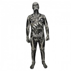Disfraz de calavera y huesos Monster Collection Morphsuits infantil - Imagen 1