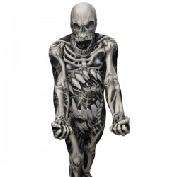Disfraz de calavera y huesos Monster Collection Morphsuit - Imagen 1