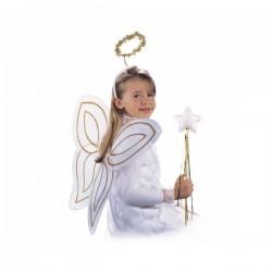 Kit de ángel con alas, aureola y varita infantil - Imagen 1