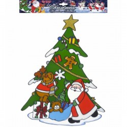 Pegatina para ventana árbol de Navidad - Imagen 1