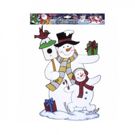 Pegatina para ventana muñecos de nieve - Imagen 1