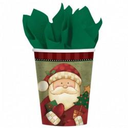 Set de 8 vasos Papá Noel - Imagen 1