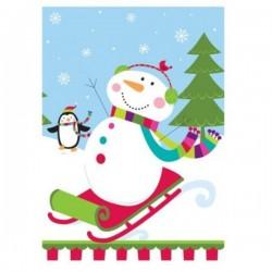 Mantel muñeco de nieve en trineo - Imagen 1