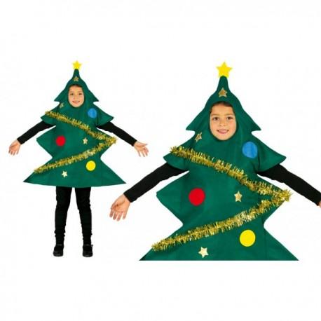 Disfraz de árbol de Navidad adornado para niño - Imagen 1