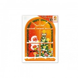 Pegatina ventana Papá Noel - Imagen 1