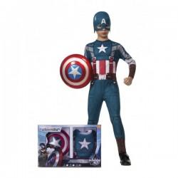Disfraz de Capitán América Soldado de Invierno retro con escudo para niño - Imagen 1
