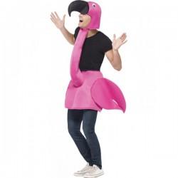 Disfraz de flamenco rosa para adulto - Imagen 1