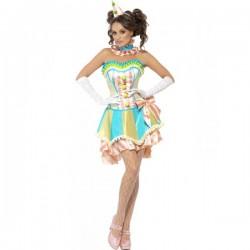 Disfraz de payasita vintage Fever para mujer - Imagen 1