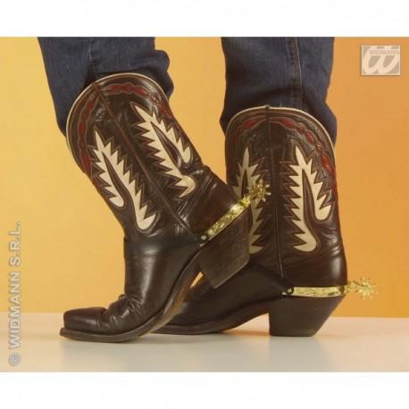 Espuelas doradas de vaquero para zapatos - Imagen 1
