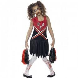 Disfraz de animadora zombie para niña - Imagen 1