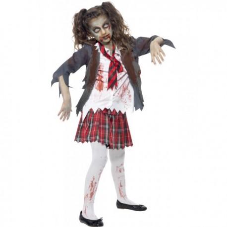 Disfraz de estudiante zombie para niña - Imagen 1
