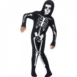 Disfraz de esqueleto negro para niño - Imagen 1