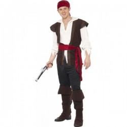 Disfraz de pirata de los mares para hombre - Imagen 1