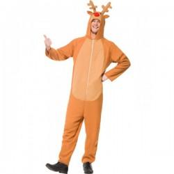 Disfraz de reno con capucha para hombre - Imagen 1