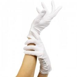 Guantes cortos blancos - Imagen 1