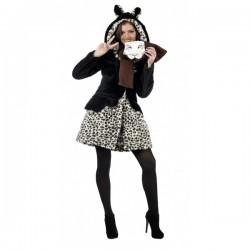 Kit abrigo y bufanda de leopardo adorable winter - Imagen 1