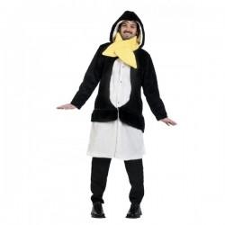Kit abrigo y bufanda de pingüino del deshielo winter para hombre - Imagen 1