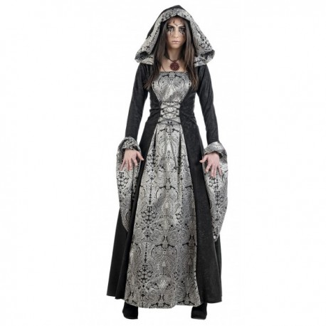 Disfraz de dama medieval misteriosa - Imagen 1