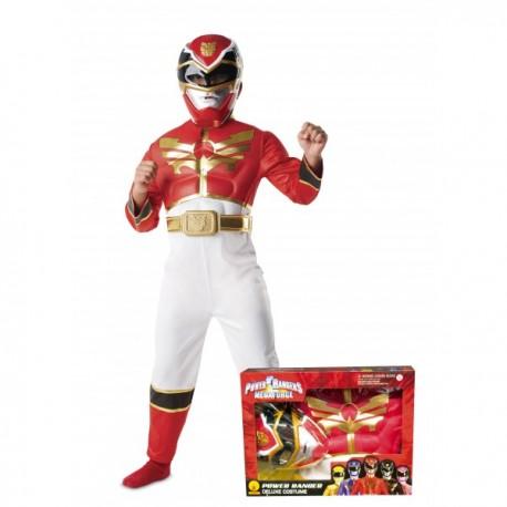 Disfraz de Power Ranger Megaforce rojo para niño en caja - Imagen 1