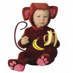 Disfraz de mono platanero para bebé - Imagen 1