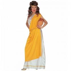Disfraz de romana con toga para mujer - Imagen 1