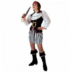 Disfraz de corsaria saqueadora para mujer - Imagen 1
