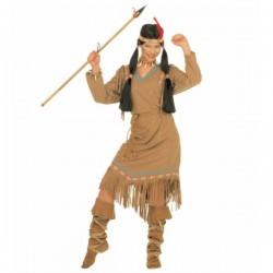 Disfraz de india Pluma Roja para mujer - Imagen 1
