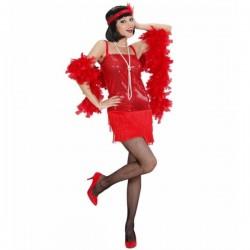 Disfraz de cabaret años 20 rojo para mujer - Imagen 1