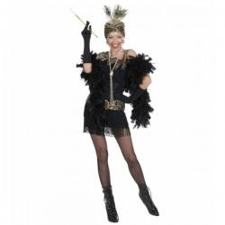 Disfraz de fiesta años 20 negro para mujer - Imagen 1