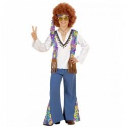 Disfraz de hippie Woodstock Festival para niño - Imagen 1