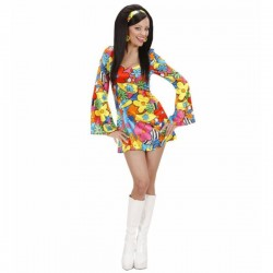 Disfraz de hippie flower power para mujer - Imagen 1