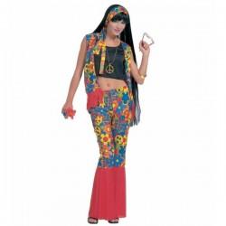 Disfraz de hippie festivalera para mujer - Imagen 1