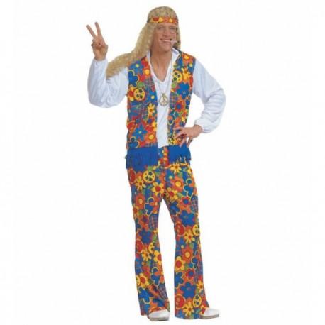 Disfraz de hippie festivalero para hombre - Imagen 1