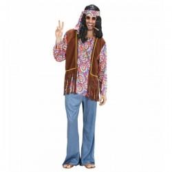 Disfraz de hippie peace and love para hombre - Imagen 1