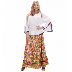 Disfraz de hippie de comuna para mujer - Imagen 1