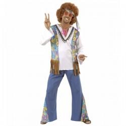 Disfraz de hippie Woodstock Festival para hombre - Imagen 1