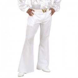 Pantalón acampanado blanco para hombre - Imagen 1
