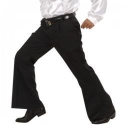 Pantalón acampanado negro para hombre - Imagen 1