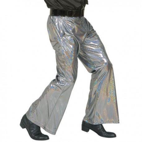 Pantalón disco plateado - Imagen 1