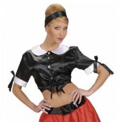 Top negro camarera sexy 50's - Imagen 1