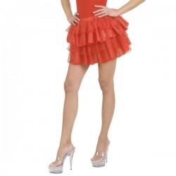 Falda de volantes roja para mujer - Imagen 1