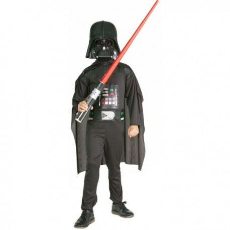 Disfraz de Darth Vader con espada láser para niño - Imagen 1
