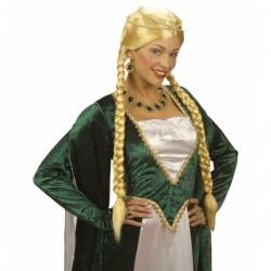 Peluca de princesa rubia medieval - Imagen 1